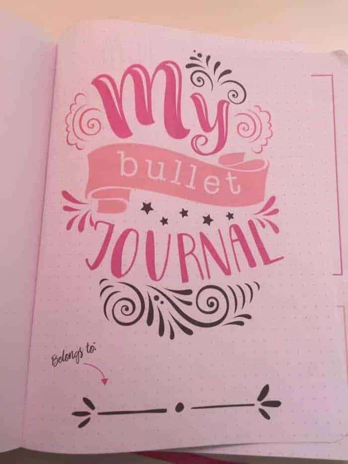my bullet journal action