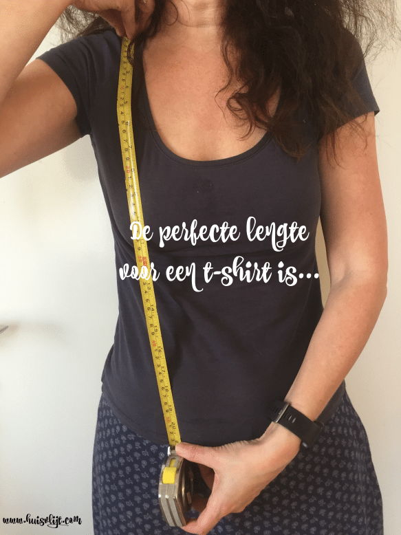 T-shirt: de perfecte lengte is…