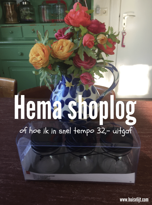 Shoplog Hema, of hoe ik er 32,- doorheen joeg in 10 minuten