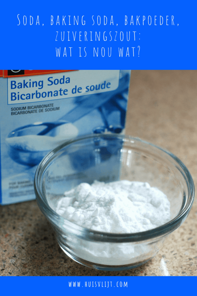 Soda, baking soda, bakpoeder, zuiveringszout: wat is nou wat?