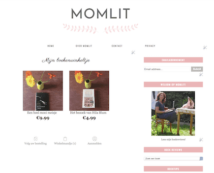 online shop op je blog
