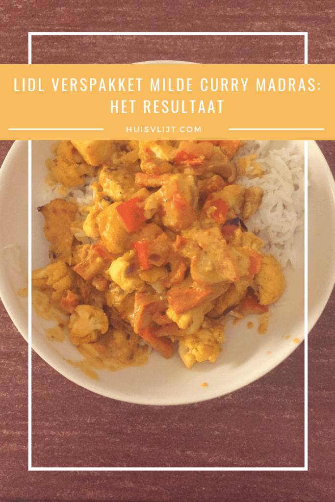 Lidl verspakket milde curry madras