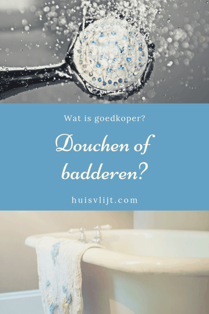 Douche versus bad: wat is zuiniger?