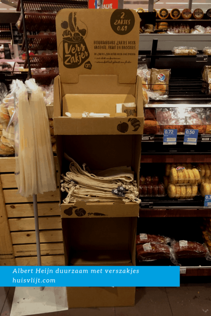 Albert Heijn duurzaam: herbruikbare zakjes voor groente